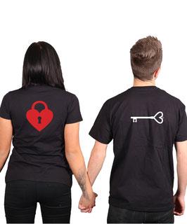 """2 x T-Shirt """"Schlüssel & Schloss"""""""