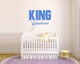 "WANDTATTOO ""KING"" sz. + WUNSCHNAME"