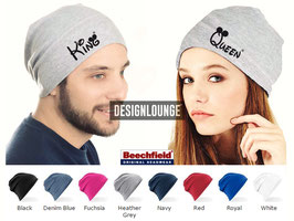 "JERSEY BEANIE ""KING & QUEEN"" oo (DOPPELPACK)"