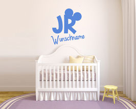 "WANDTATTOO ""JR"" + WUNSCHNAME"