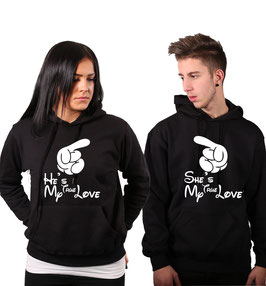 "2 x Kapuzenpullover ""True Love"""