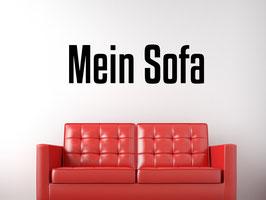 "Wandtattoo ""Mein Sofa"""