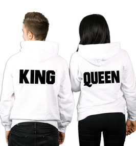 "2 x HOODIES ""KING & QUEEN Sz."""