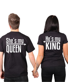 "2 x T-Shirt ""My King & My Queen"""
