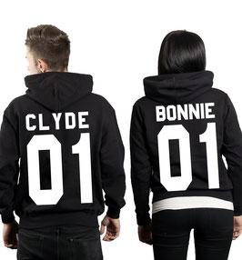 """2 x Hoodies """"Bonnie 01 & Clyde 01"""""""