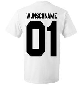"""T-SHIRT """"WUNSCHNAME & WUNSCHZAHL"""""""