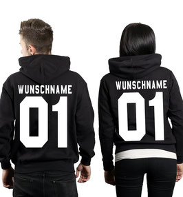 "2 x HOODIES ""WUNSCHNAME & NUMMER."""