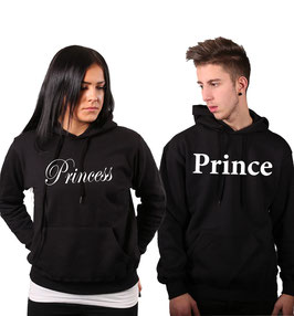 "2 x Kapuzenpullover ""Prince & Princess """