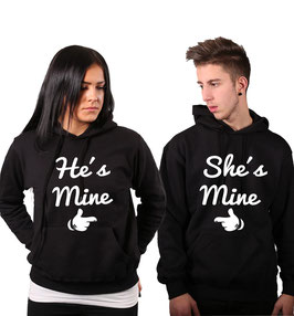 "2 x Kapuzenullover ""He & She is mine"""