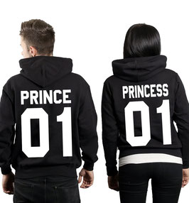 "2 x Hoodies ""Prince 01 & Princess 01"""
