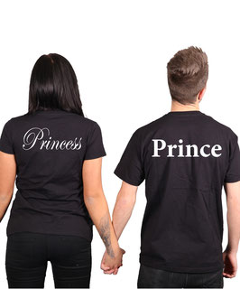 "2 x T-Shirt ""Prince & Princess"""