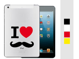 "iPad mini Sticker ""I love Moustache"""