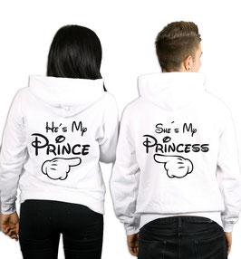 """2 x Hoodies """"my Prince(ess) hand"""""""