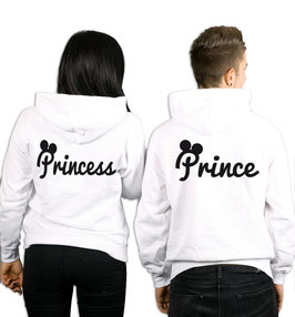 "2 x HOODIES ""PRINCE & PRINCESS"" oo"