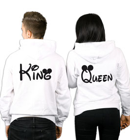 "2 x HOODIE ""KING & QUEEN"" oo"