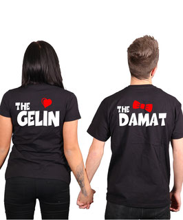 "2 x T-Shirt ""The Gelin & The Damat"""