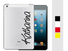"iPad mini Sticker ""Wunschname"""