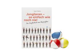 Jonglieren lernen: Buch und gute Jonglierbälle im Set