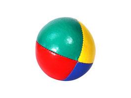 Einzelner Jonglierball vierfarbig/bunt