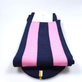 Kniestrümpfe breit gestreift blau/pink