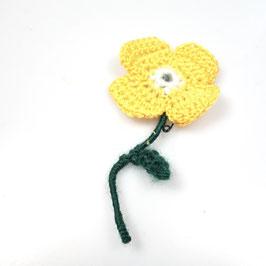 Häkelblume (sonnenblumengelb)