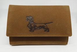 Damengeldbörse aus Leder - Rauhhaar- Kurzhaar- und Langhaardackel