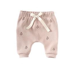 Waffle Jersey Harem Pants I Nude I Alloverprint Flowers