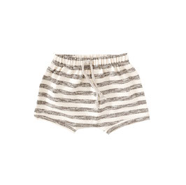 Bummie I Ecru with Grey Stripes