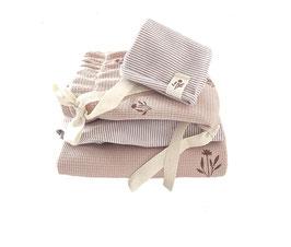 Jersey Leggings I Oldrose with Ecru Stripes