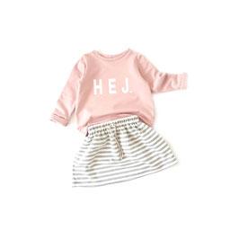 Skirt Stripes Medium Grey/Ecru