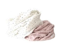 Wrap Loop Musselin let it rain confetti......Ecru
