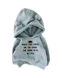 Cozy Bear Hoodie I dusty blue I choose your statement