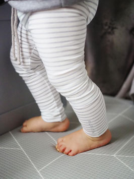 Unisex Leggings Fancy Stripes ....White/Grey