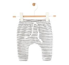 Knit cozy Pants Black/ Ecru Stripes