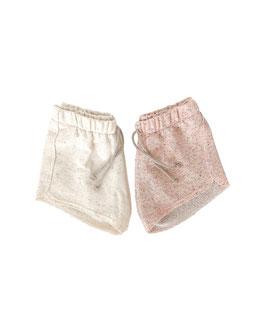 French Terry Shorts I allover Sprenkels Neon I Blush