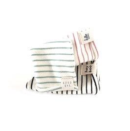 Roll it Beanie I Stripes Oldrose or Oldgreen I Choose Your Favorite Statement