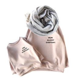 Mum & Me  Oversized Sweater Color  Nude choose your favorite Statement
