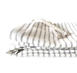 Unisex Leggings Fancy Stripes White/Grey