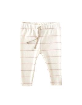 Viskose Leggings I Ecru with Nude thin Stripes