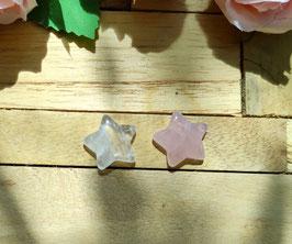 Kinderwunsch Sterne - Bergkristall Rosenquarz (SK33)