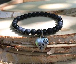 Katze Armband - Onyx (T14)