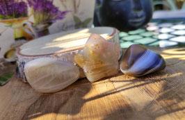 Schwangerschaftsschutz Steine - Achat Stern Mondstein Botswana Achat (SK3)