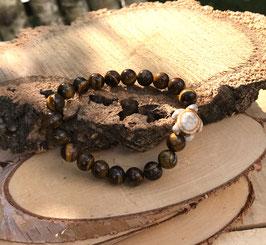 Schildkröte Armband - Tigerauge (T49)