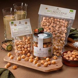 Haselnüsse geröstet und gesalzen 100 g - Nocciola Piemonte IGP