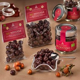 Haselnüsse geröstet mit dunkler Schokolade umhüllt 120 g - Nocciola Piemonte IGP