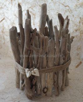 Cache-pot en bois flotté