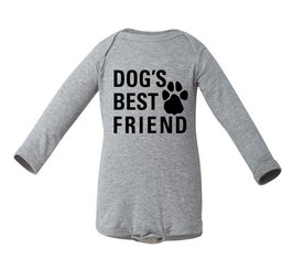 Dog's Best Friend Grey Long Sleeve Onesie
