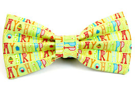 Yappy Birthday Green Bow Tie