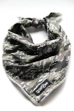 Grey Camo Knotted Bandana-WHOLESALE