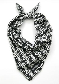 Happy Black & White Traditional Knotted Bandana